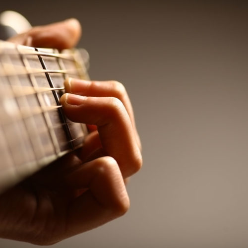Guitarist Hands Close Up