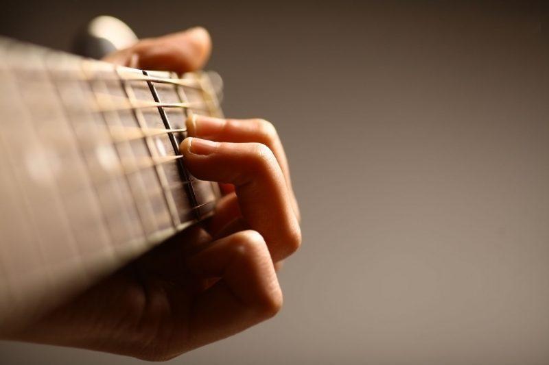 Guitarist Hands Close Up